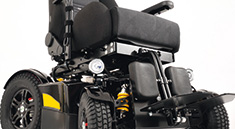 Richter Reha Technik electrical wheelchair Titan easy in everyday usage