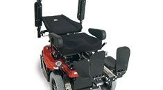 Richter Reha Technik electrical wheelchair elevating function standing up from the lying position